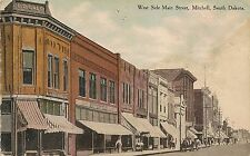 West Side of Main Street Mitchell Sd Postcard