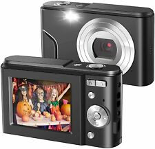 Ultra HD Digital Camera 1080P Mini Kid Camera Vlogging Camera Video LCD  (Black)