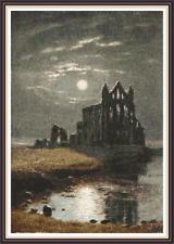 "'WHITBY ABBEY' Cross Stitch Pattern (10¾""x15½"") Detailed/Dracula/Church"
