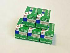5 Rolls Fujifilm Velvia 50 135/35mm Color Slide Film