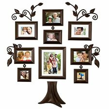 Family Tree Picture Frame Wall Hanging 9 piece family tree wall photo frame set hanging frames picture