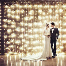 300 LED Fairy String Lights Curtain Window Wedding Room Party Lamp Decor +Remote