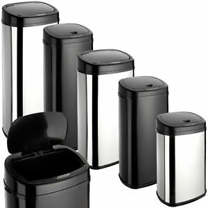 Dihl Onyx Rectangle Steel Kitchen Automatic Dust Sensor Bin Touchles Waste