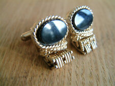 VERY NICE VINTAGE WRAP MESH AROUND CUFFLINKS SIGNED SWANK
