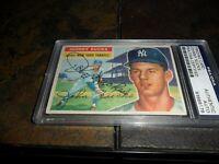 1956 Topps Johnny Kucks #88 PSA/DNA Auto {1956 18-9  RECORD} NEW YORK YANKEES