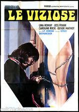 LE VIZIOSE MANIFESTO CINEMA JESS FRANCO LINA ROMAY HORROR 1975 MOVIE POSTER 4F
