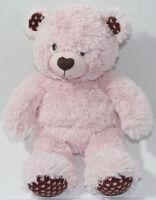 Build a Bear Workshop PINK BROWN TEDDY HEARTS Stuffed Plush Animal TOY BABW
