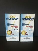 2000 49ers Vs San Diego Chargers Ticket Stubs Jerry Rice 2 TDs