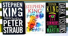 Lot of 3x Stephen King Novels! The Bazaar of Bad Dreams, Dark Visions!