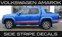 VW VOLKSW AMAROK SIDE STRIPE VINYL STICKER DECALS