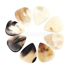 8 Pcs Quality Buffalo Horn Guitar Pick fit Bass Mandolin Banjo 0.8--1.2mm