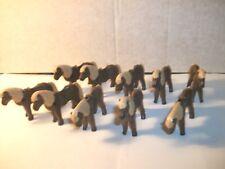 Playmobil - 10 Ponies in Dark Brown