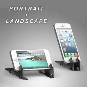 Stabilize Rotation Card Tripod Mobile Phone Pocket Holder Adjust Video NEW
