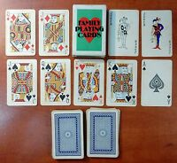 VINTAGE DECK 'FAMILY PLAYING CARDS - EZCO' 54 (2 JOKERS) PLAYING CARDS - p04!!