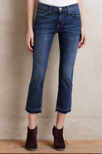 NEW Anthropologie CURRENT/ELLIOTT Cropped Straight Jeans Medium Blue $248 29