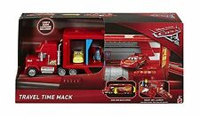 DISNEY PIXAR CARS 3 TRAVEL TIME MACK TRANSPORTER W/ LUIGI & GUIDO DXY87 *NEW*