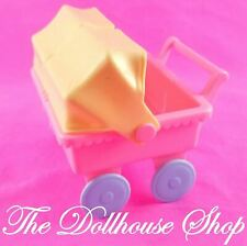 Playskool Victorian Dollhouse Nursery Pink Baby Doll Twin Double Pram Stroller