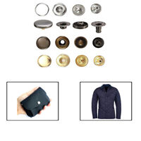 15mm S Spring Press Studs Buttons Snap Fastener 4 Parts Set Sewing Leather Craft