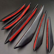 6* Universal Gloss ABS Auto Frontstoßstange Körper Flossen Spoiler Canards Refit