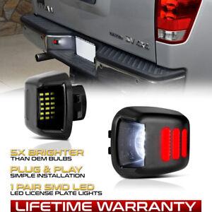 [DEMON NEON TUBE] LED License Plate Lights Lamps SET For Nissan Frontier Xterra