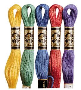 DMC Stranded Cotton Mouline 8m Multiple Colours 829 - 3866, Blanc, Ecru, B5200