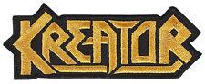 KREATOR - Patch Aufnäher - logo cut GESTICKT EMBROIDERED 8x4cm