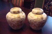 Goldimari Handpainted Japan Pair of  Ginger Jars [*japan]