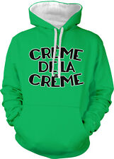 Creme De La Creme Top Rise Cream Crop Best Greatest Two Tone Hoodie Sweatshirt