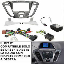 MASCHERINA COMANDI AL VOLANTE MONITOR NAVIGATORE GPS 2 DIN FORD TRANSIT CUSTOM