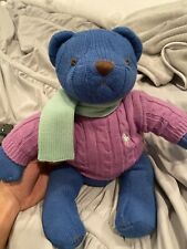 Ralph Lauren Polo Knit Plush Teddy Bear 2004 Sweater & Scarf