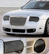 Fits 05-10 Chrysler 300C GTS Acrylic Smoke Headlight Fog Light Covers 4pc Set