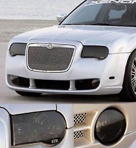 Fits 05-10 Chrysler 300C GTS Acrylic Smoke Headlight Fog Light Covers 4pc Set