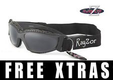 RAYZOR UV400 2n1 Grey CYCLING MTB SUNGLASSES GOGGLES Smoked Mirrored Lens RRP£69