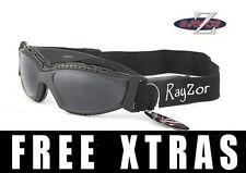 RAYZOR UV400 2n1 Gris Ciclismo MTB Gafas de sol gafas Humo Lente de espejo