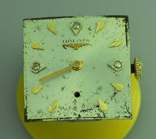 1963 VINTAGE LONGINES 370 MENS WRIST WATCH MOVEMENT – DIAMOND DIAL - RUNS