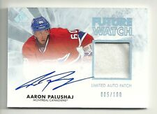 2011-12 SP Authentic LIMITED Future Watch Patch Auto #229 AARON PALUSHAJ  #5/100