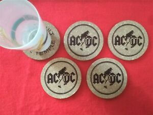 AC/DC High Voltage 4 Cork coasters, approximate measure of 10 x 10cm Posavasos