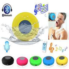 Handsfree Wireless Bluetooth Speaker Suction Car Shower Waterproof Music Mic New