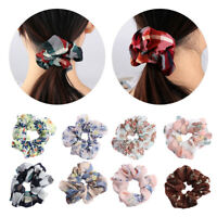 Hair Accessories Ponytail Holder Print Hair Band Scrunchie Elastic Hair Rope