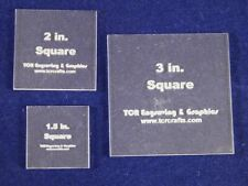 "Square Quilt Templates. 1/8"" 1.5"", 2"", 3"". - Clear"