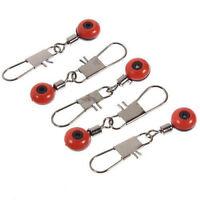 100X Schnelle Perlen Laufwirbel Wirbel Sicherheitskarabiner Posen Adapter N P6J5