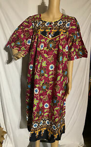 Comfort Choice 100% Cotton Nightgown Colorful Floral Medium Made Big