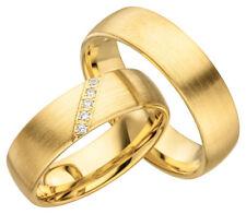 2x JC Trauringe Eheringe Gold Plattierte Verlobungsring inkl.Gravur & Etui JC009