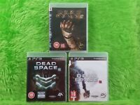ps3 DEAD SPACE x3 Games 1 + 2 + 3 Survival Horror Collection REGION FREE PAL UK