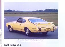 1970 Oldsmobile Cutlass Rallye 350 ci 310 hp info/spec/prices production 11x8