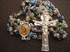 MEDJUGORJE Rosary, Catholic colored rosaries from Medjugorje+Gift holy Card