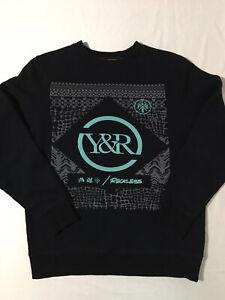 Young & Reckless Los Angeles Men's Sz M Crewneck Sweatshirt Black