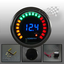 "LED digital tachometer gauge 0-1000rpm 2"" / 52mm universal with Volt reading"
