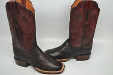 Lucchese CL2527.W8 Shelby Womens Brown Goat Leather Cowboy Western Boot 8.5 WIDE