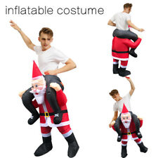 Fancy Christmas Santa claus Ride on Inflatable Costume Adults Dress Blow Outfit